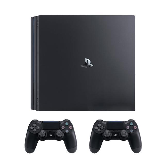 【SONY 索尼】PS4 Pro 雙手把同捆組(PS4 Pro 遊戲主機 極致黑)