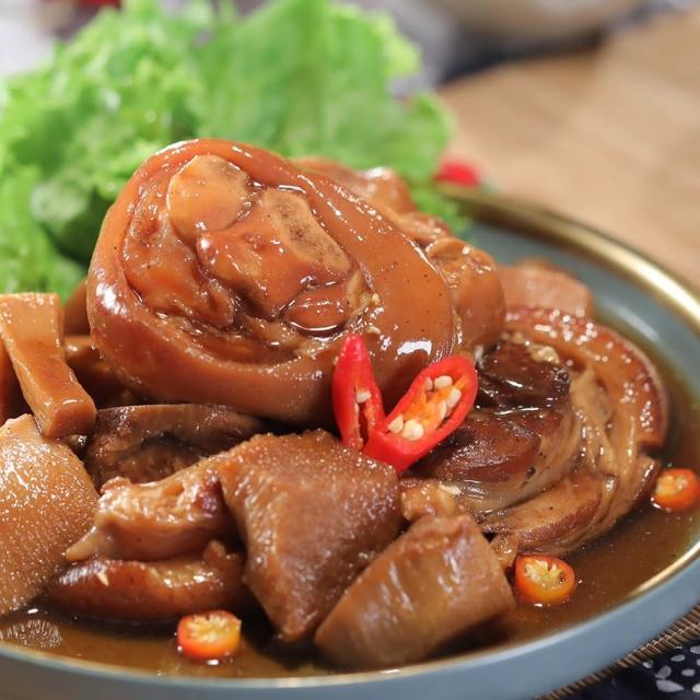 台灣好豬鮮筍滷豬腳中段-添福開運組