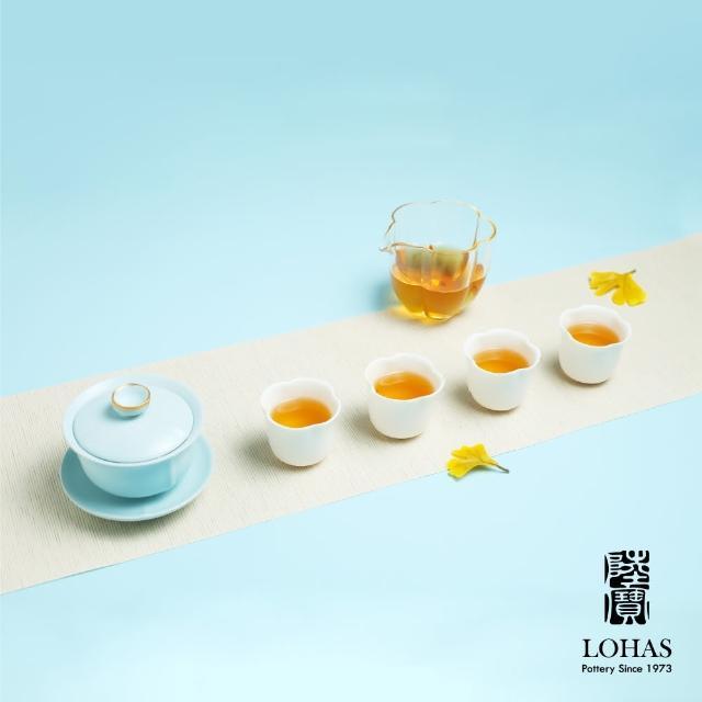 【LohasPottery 陸寶】菩提茶組 天青色(一碗一海六杯 人文飲茶新體驗)