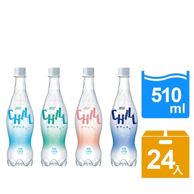 福利品【舒跑】透明系氣泡水510ml(24入/箱)