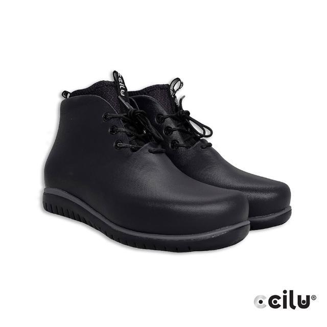 【CCILU 馳綠】PAOLO CDOT 休閒高筒綁帶防水雨靴-男款(301315065黑色)