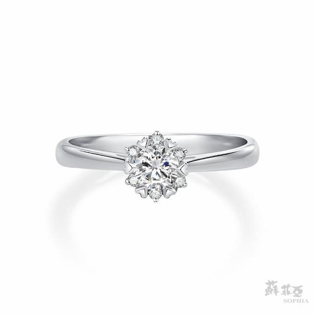 蘇菲亞珠寶【蘇菲亞珠寶】費洛拉 GIA 0.30克拉D_IF 18K白金 鑽石戒指