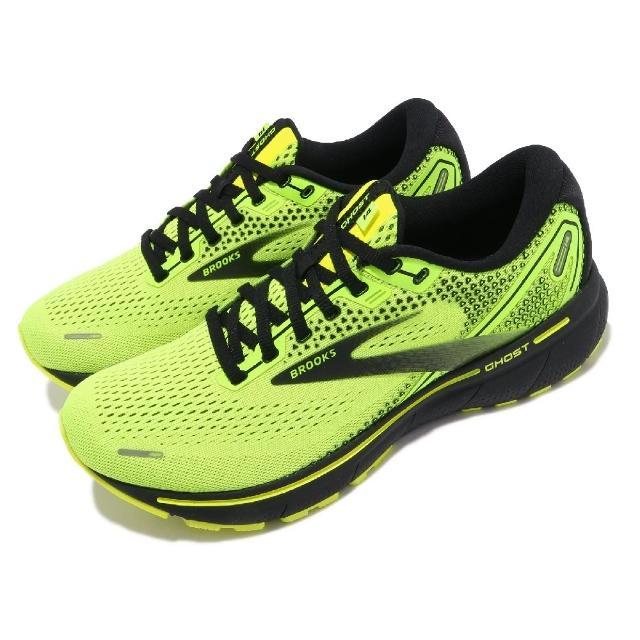 【BROOKS】慢跑鞋 Ghost 14 運動休閒 男鞋 防震 穩定 流暢 柔軟 舒適 黃綠 黑(1103691D770)