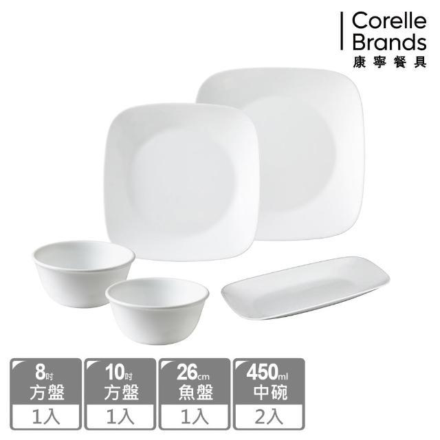 【CorelleBrands 康寧餐具】純白5件式餐具組(E24)