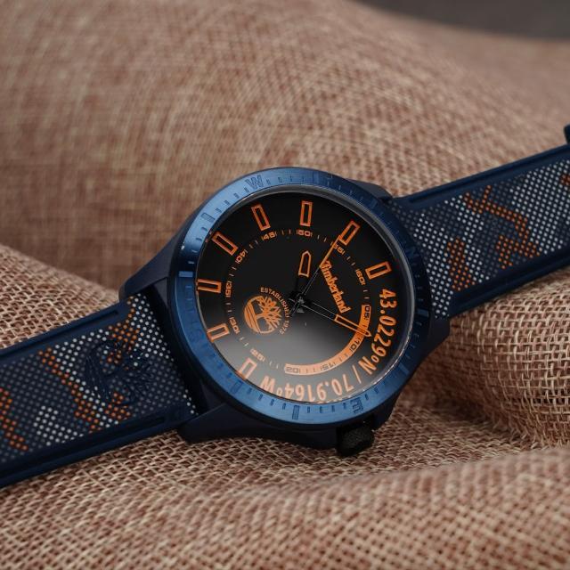 【Timberland】軍事風迷彩大三針手錶-43.5mm(TDWGM2101403)