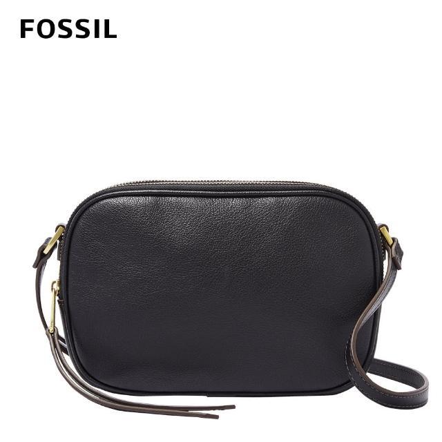 【FOSSIL】Maisie 真皮立體相機包 大款-黑色 SHB2420001