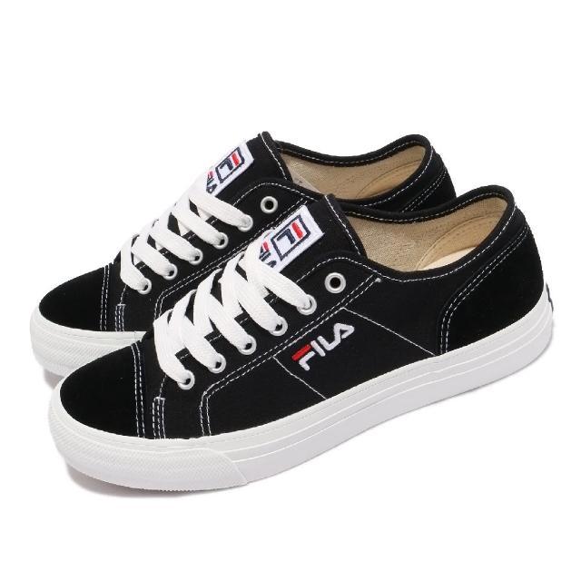 【FILA】休閒鞋 C318V 帆布鞋 基本款 女鞋 斐樂 上學 穿搭推薦 百搭 黑 白(5C318V001)