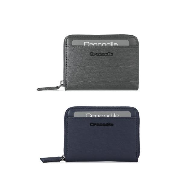 【Crocodile】鱷魚皮件 真皮皮件 輕巧零錢包 拉鍊包-0103-10405-原廠公司貨(維也納Wien系列)