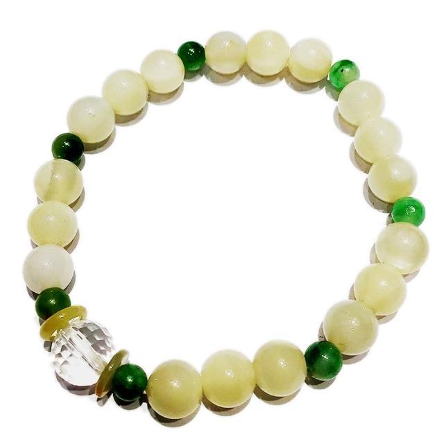【十方佛教文物】黃金硨磲手珠 12 mm(大悲咒加持108遍以上)