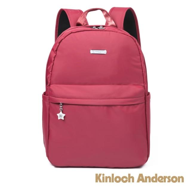 【Kinloch Anderson】城市酷玩 大容量雙拉鍊後背包(知性紅)