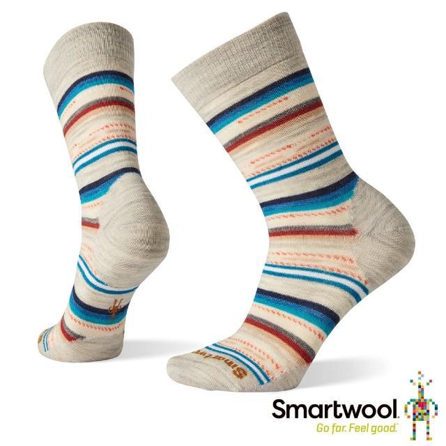 【SmartWool】女 瑪格麗特紋中長襪(塵灰)