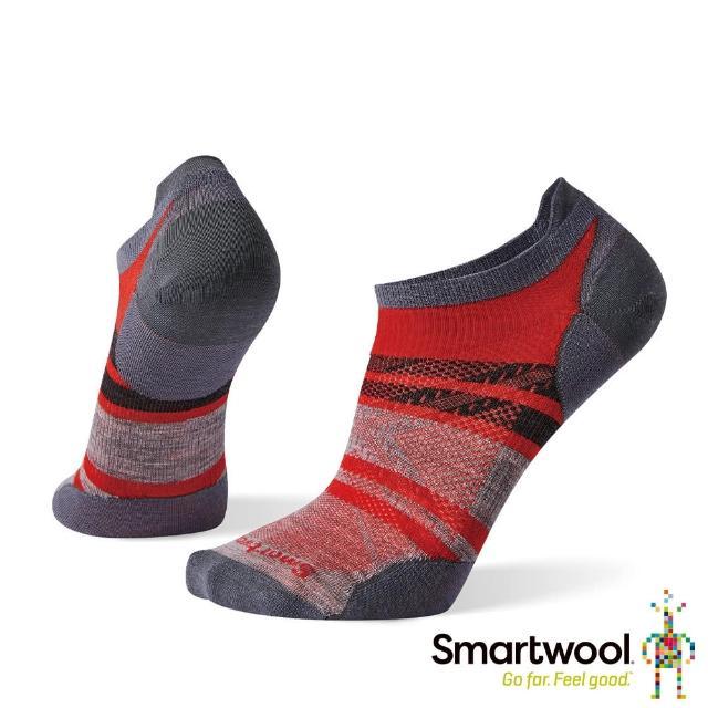 【SmartWool】PhD超輕印花跑步踝襪(沙漠風采橘)
