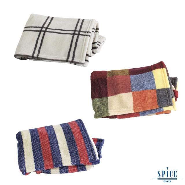 【SPICE】日本雜貨 進口小鬆軟毛毯 3色(夏被 單人被 超柔軟 可洗衣機水洗)