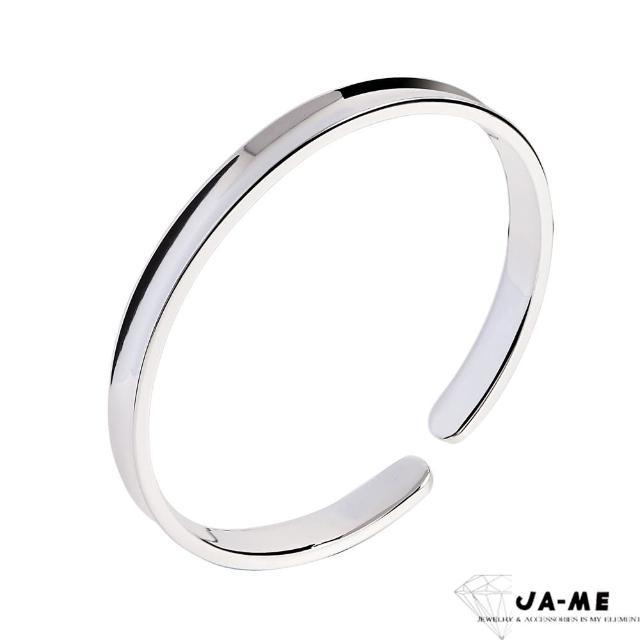 【JA-ME】999千足銀光面凹型銀鐲