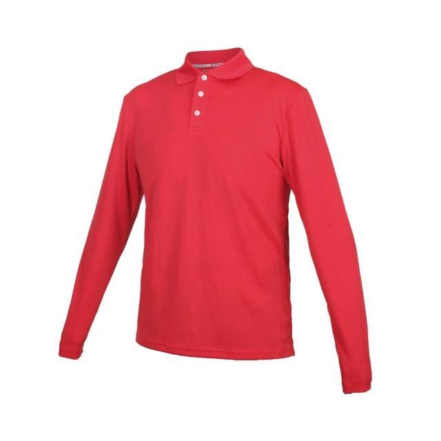 【HODARLA】男女星際吸濕排汗長袖POLO衫-台灣製 慢跑 休閒 上衣 高爾夫 紅(3161304)