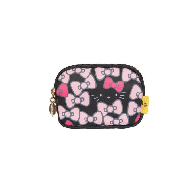 【HELLO KITTY】凱蒂躲貓貓-雙層零錢包-黑(FPKT0G004BK)