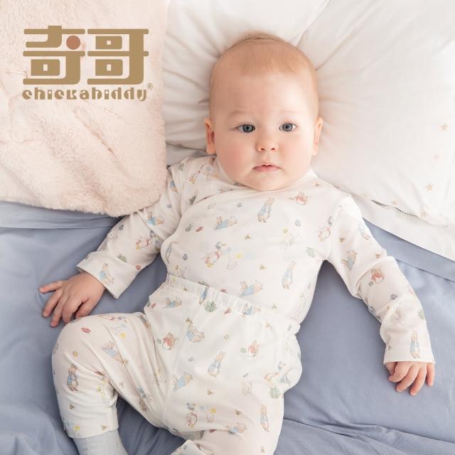 【奇哥】跳跳兔嬰兒長褲/居家服-水晶紗(3個月)