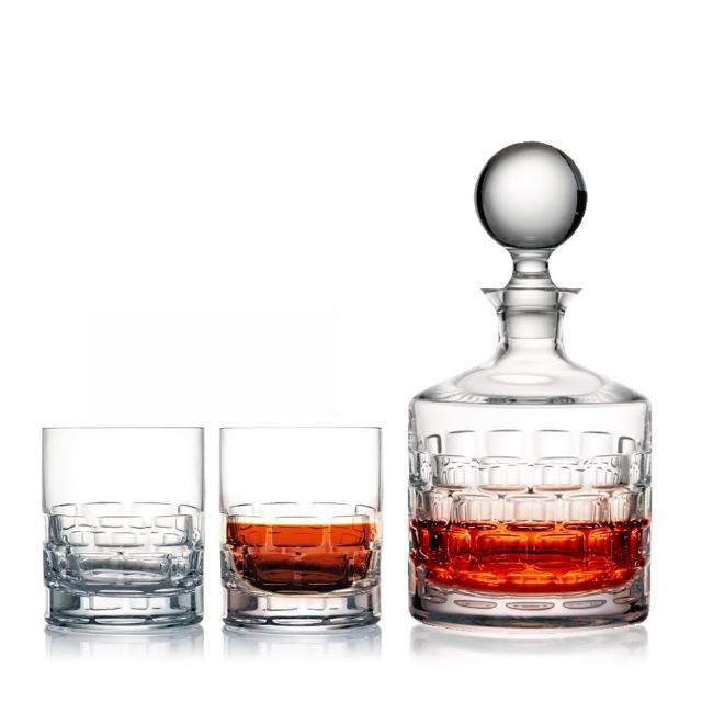 【ROGASKA 盧斯卡】紳品邁森-威士忌對杯酒壺水晶禮盒組-(威士忌杯賀禮/開幕誌慶/入厝禮物/升遷賀禮)