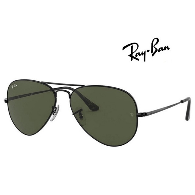 【RayBan 雷朋】RAY BAN 雷朋 飛行員經典太陽眼鏡 RB3689 9148/31 62mm大版 黑框墨綠鏡片 公司貨