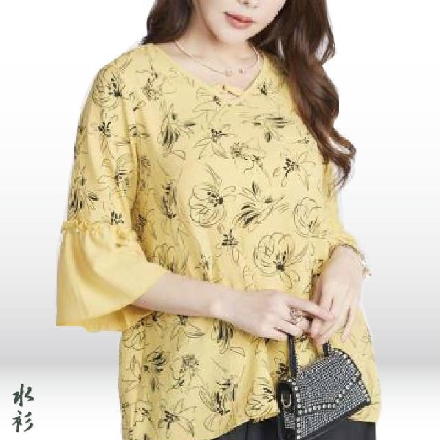 【水衫】柔雅雪紡印花上衣五件組(J03-17)