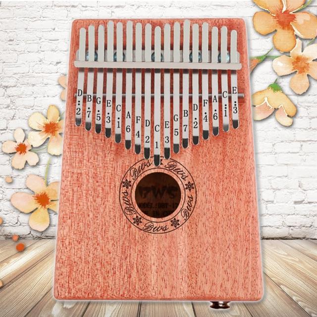 【美佳音樂】Kalimba 卡林巴琴/拇指琴-超值全配.17音EQ桃花芯木單板(贈旅行包/音箱)