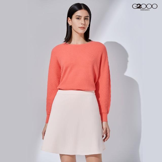 【G2000】時尚素面縮口針織衫-橘色(1129011034)