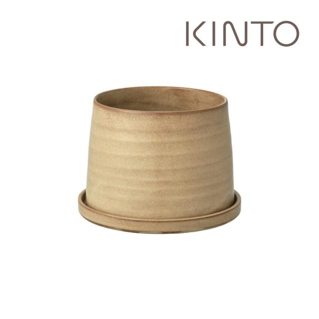 【Kinto】PLANT POT 192陶瓷花盆12.5cm-米