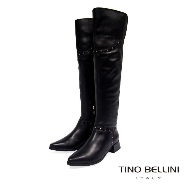 【TINO BELLINI 貝里尼】巴西進口帥勁時髦過膝靴VI8515(黑)