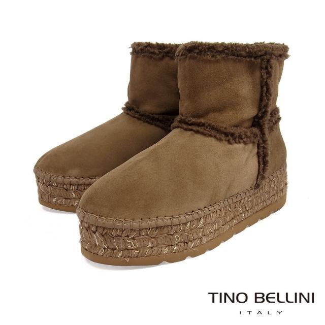 【TINO BELLINI 貝里尼】西班牙進口麻編厚底雪靴VI8519(棕)