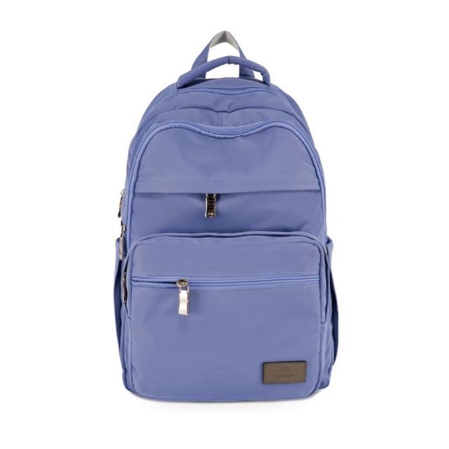 【J II】後背包-無限多隔層防潑水後背包-藍莓色-6377-24(後背包)