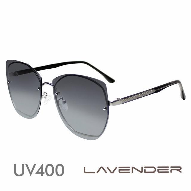 【Lavender】多邊形個性鏡腳 漸層灰 12103-C3(偏光太陽眼鏡)