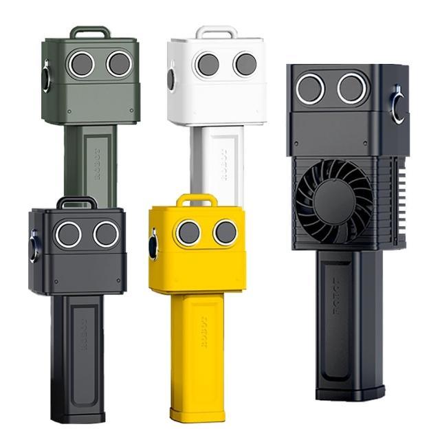手持復古機器人usb充電小風扇 手持風扇 usb風扇 小風扇 小電扇 三段式 可桌立(四色可選)