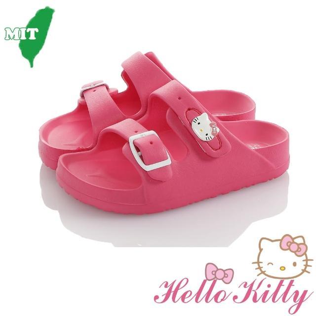 【HELLO KITTY】15-20cm童鞋 防水極輕量吸震休閒拖鞋(粉&桃色)