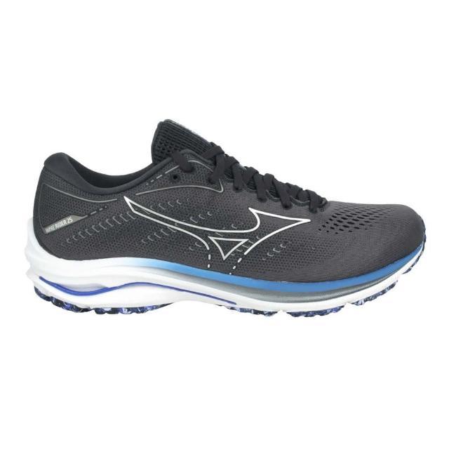【MIZUNO 美津濃】WAVE RIDER 25 SW 男慢跑鞋-4E-路跑 美津濃 灰銀藍紫(J1GC210493)