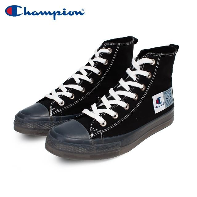 【Champion】ELLY HI 男女中性款黑色高筒休閒帆布鞋NO.USLS-1015-10