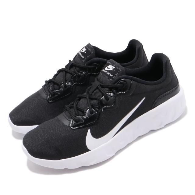 【NIKE 耐吉】慢跑鞋 Explore Strada 運動 女鞋 輕量 透氣 舒適 避震 健身 穿搭 黑 白(CQ7624-001)