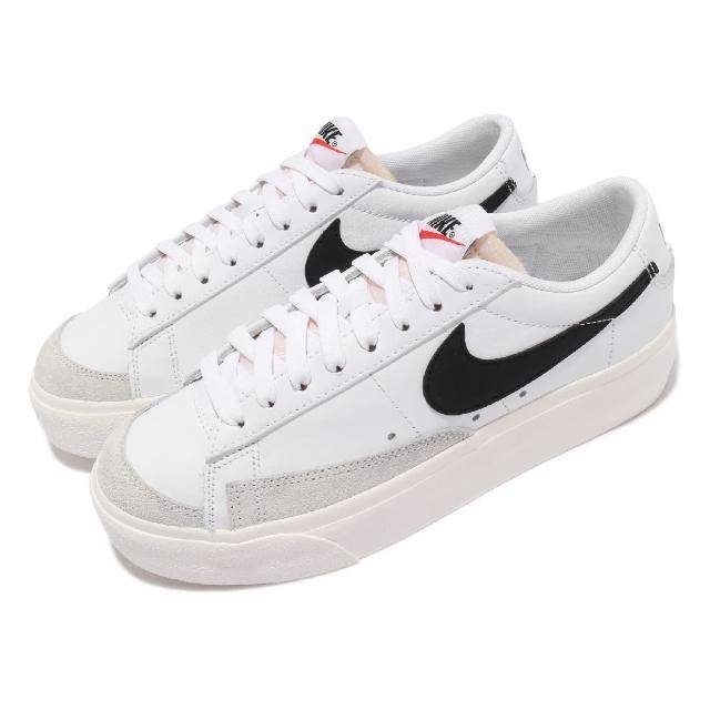 【NIKE 耐吉】休閒鞋 Blazer Low Platform 女鞋 經典款 厚底 舒適 簡約 增高 球鞋穿搭 白 黑(DJ0292-101)