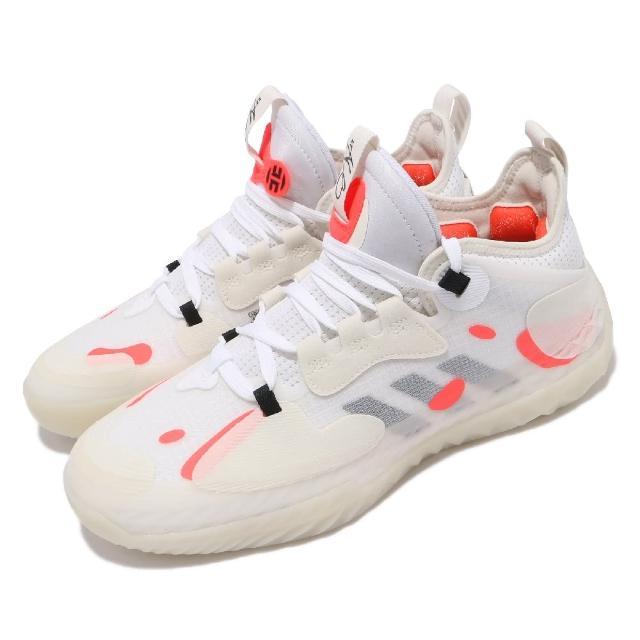【adidas 愛迪達】籃球鞋 Harden Vol.5 明星款 運動 男鞋 愛迪達 Futurenatural 避震 白 橘(GW5388)