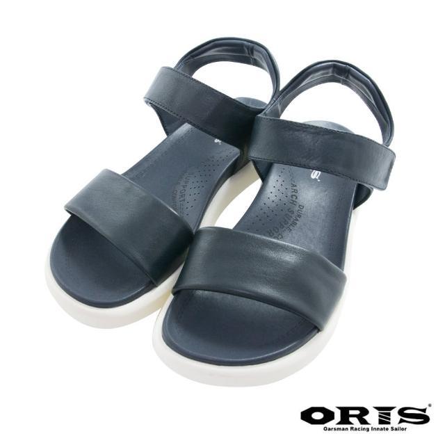 【oris 帆船鞋】時尚反光條輕便涼鞋-藍-S1421N04(拖鞋/涼鞋/真皮/耐磨)