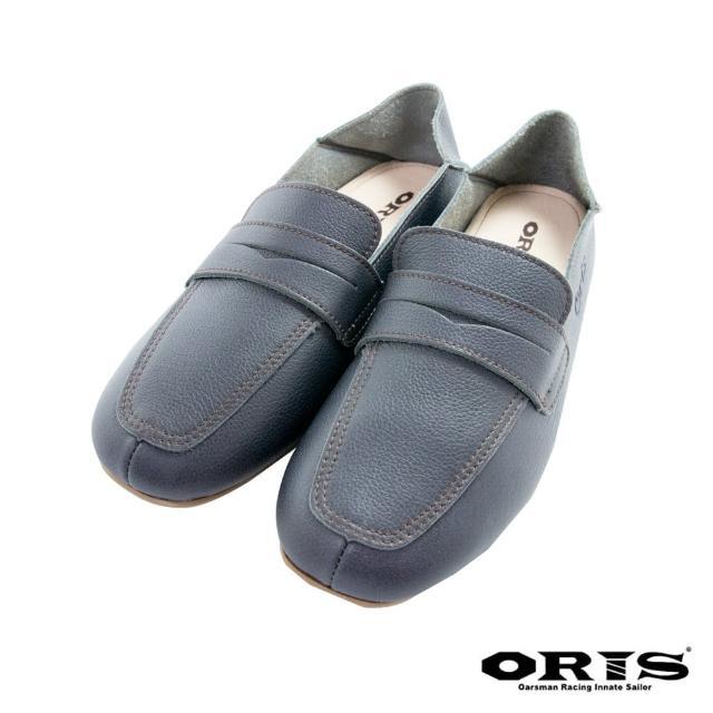 【oris 帆船鞋】海鷗鏤空懶人休閒鞋-藍-S1654N04(真皮/手工/休閒鞋/懶人鞋)