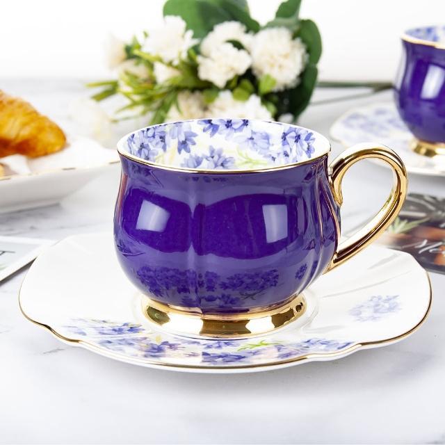 【Royal Duke】含苞待放系列-紫 兩杯兩碟(咖啡杯組 2入)
