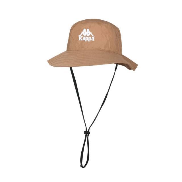 【KAPPA】漁夫帽-防曬 遮陽 運動 帽子 咖啡白(32186KW-Z21)