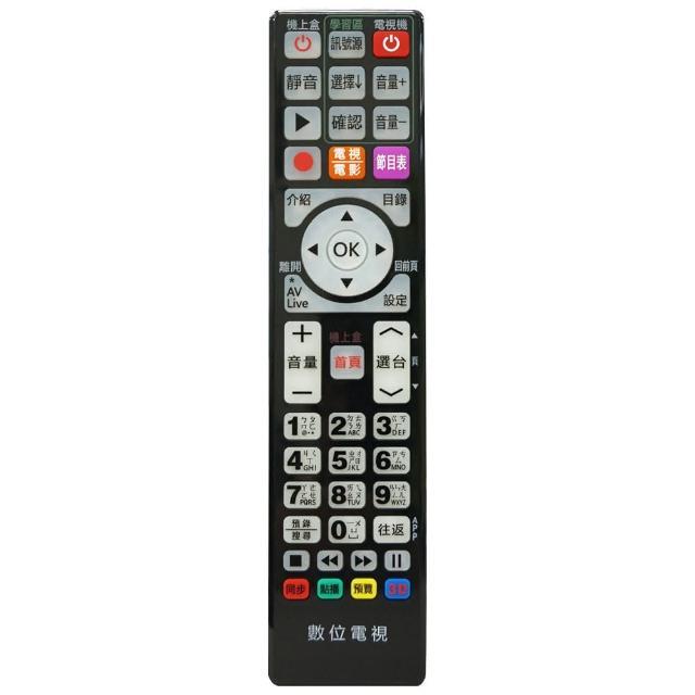 【全區版】第四台有線電視數位機上盒遙控器 MOD-5000(黑色)