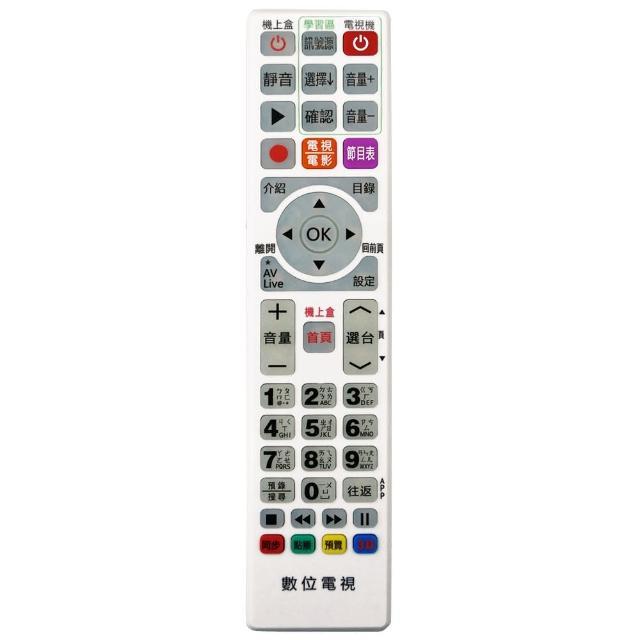 【全區版】第四台有線電視數位機上盒遙控器 MOD-4000(白色 2入組)