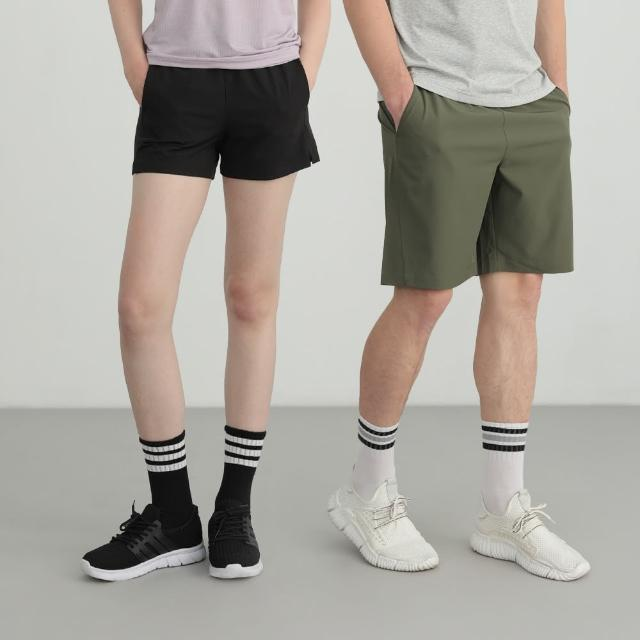 【GIORDANO 佐丹奴】二件組 男女裝四面彈力抽繩短褲(多色任選)