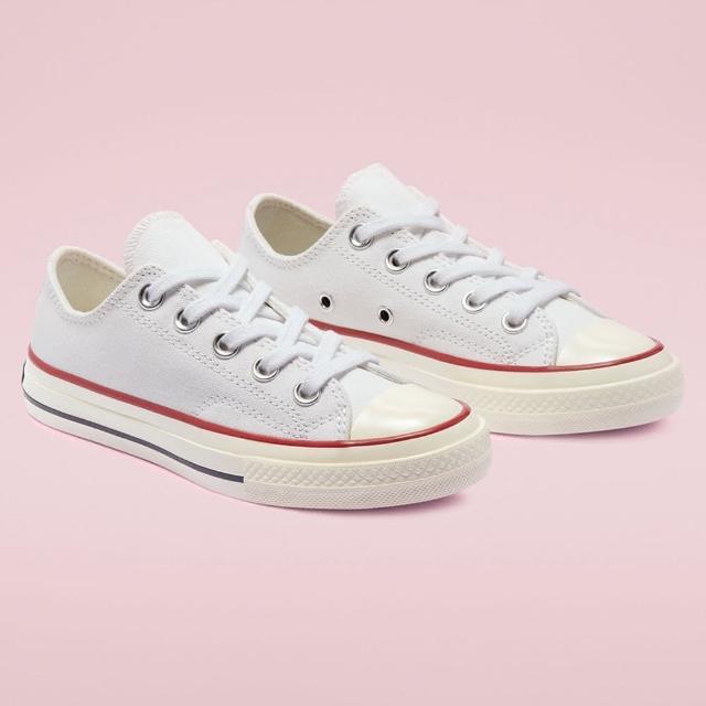 【CONVERSE】休閒鞋 中大童 童鞋 兒童 帆布鞋 運動 低筒 CHUCK 70 OX WHITE/GARNET/EGRET 白 368988C
