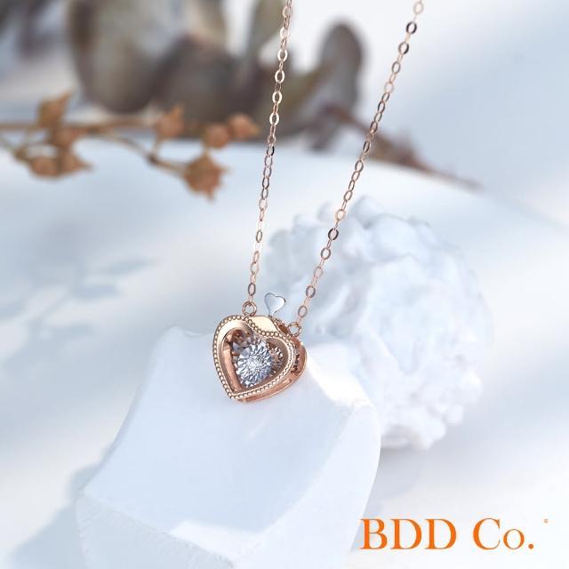 【BDD Co.】BDD-Co.18k玫瑰金/白金 Au750(心形泡泡鑽石項鏈)