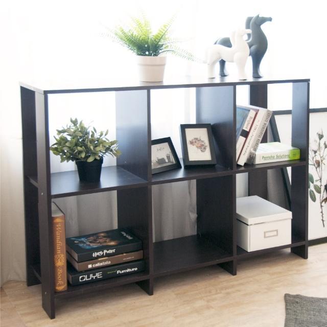 【Hopma】開放式六格書櫃-橫式/簍空/置物架/收納櫃(寬108x 深30x 高79 cm)