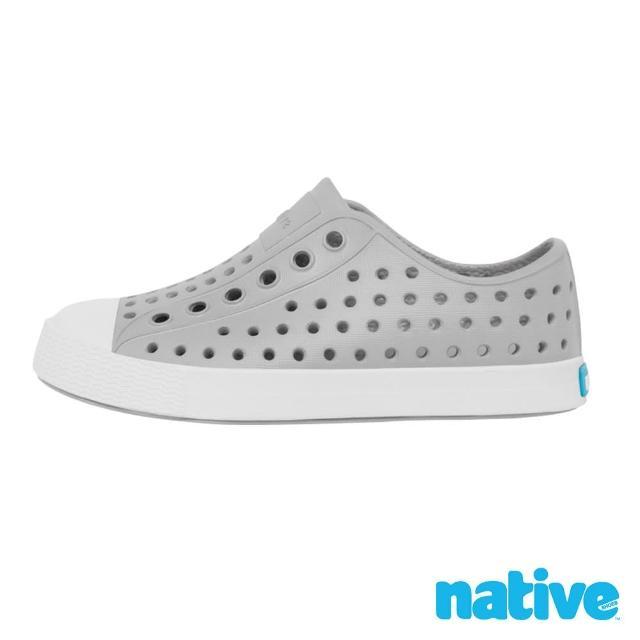 【native】大童鞋 JEFFERSON 小奶油頭鞋(鴿子灰x貝殼白)