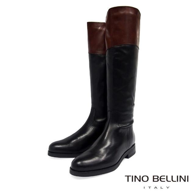 【TINO BELLINI 貝里尼】英姿瀟灑拼色長靴TF8554(黑)